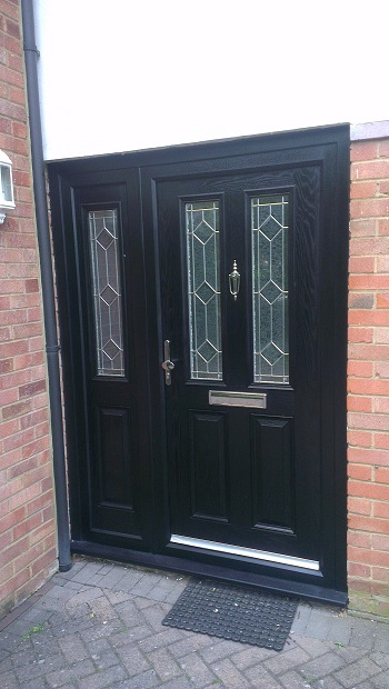 Door sprayed black