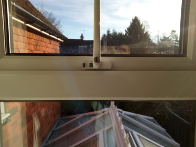 Burn to pvc window frame fully restored